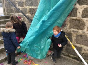 Many of the children wanted to make a den but it takes lots of working together and problem solving to do this.